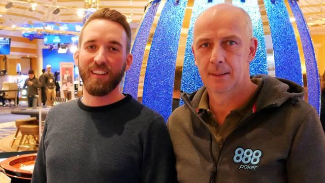 Mario Basler (r.) sprach im King's Casino mit SPORT1-Reporter Sebastian Mittag