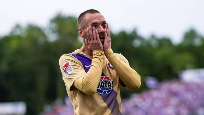 Christian Tiffert muss mit Erzgebirge Aue in die Relegation