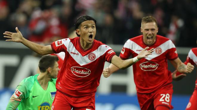 Takashi Usami erzielte die Führung für Düsseldorf, Rouwen Hennings das 2:0