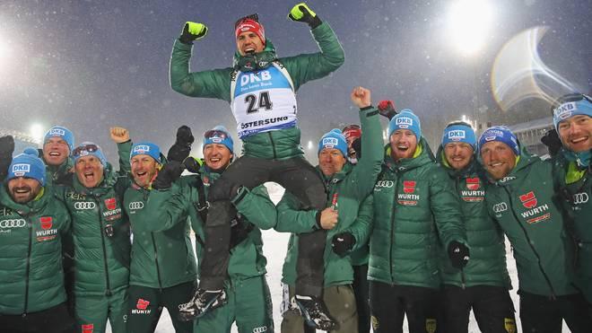 Arnd Peiffer darf sich über die Goldmedaille im Einzel freuen