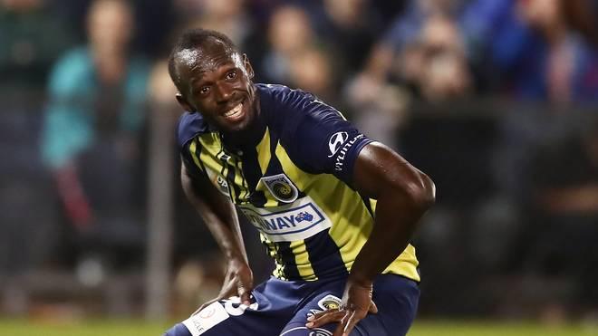 Usain Bolt wurde von den Central Coast Mariners vorübergehend vom Training ausgeschlossen