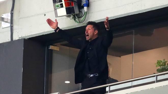 Atletico-Coach Diego Simeone ist für seine impulsiven Auftritte bekannt