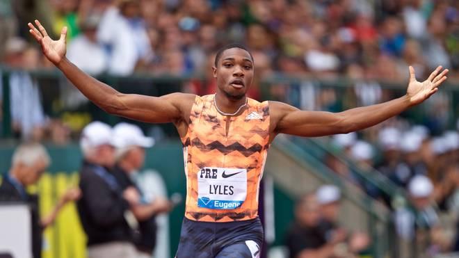 Noah Lyles hält mit 9,88 Sekunden über 100 Meter die