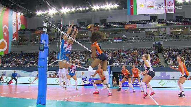 Serbien krönt sich im Volleyball-EM-Finale der Frauen gegen die Niederlande in Aserbaidschan zum Europameister.