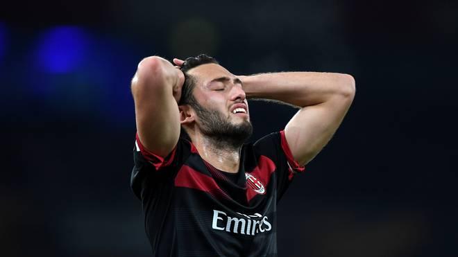 Hakan Calhanoglu wechselte 2017 von Bayer Leverkusen zum AC Mailand