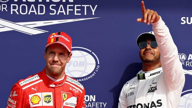 Lewis Hamilton gab in Spa das Tempo vor, Sebastian Vettel startet von Rang zwei