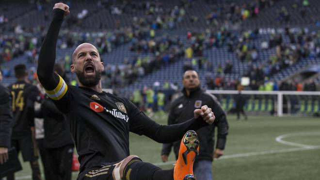 Laurent Ciman bejubelt den Auswärtssieg von Los Angeles FC in Seattle