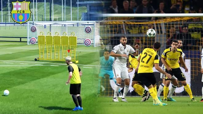 Wie Messi in der FIFA-Serie: Gonzalo Castro vom BVB schlägt einen Freistoß gegen Real Madrid