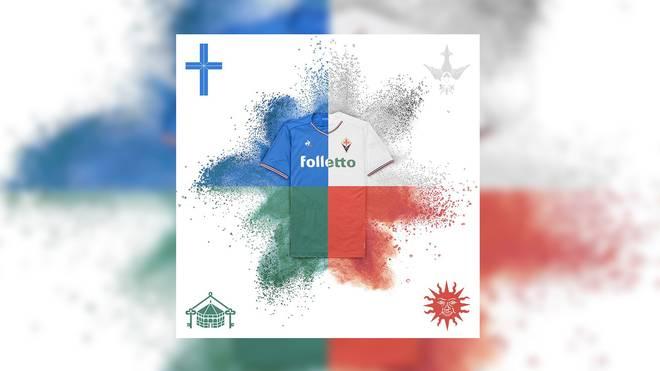 Die vier Trikotvarianten der Fiorentina
