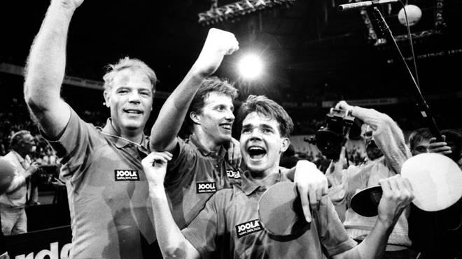 Tischtennis: Roßkopf & Fetzner holen 1989 WM-Gold im Doppel in in Dortmund