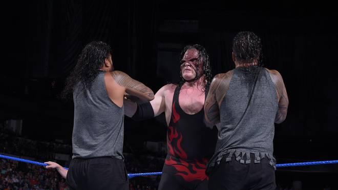 Kane (M., gegen die Usos) trifft bei WWE Extreme Rules 2018 mit Daniel Bryan auf die Bludgeon Brothers