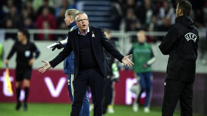 Schweden-Trainer Janne Andersson während des Spiels in Russland