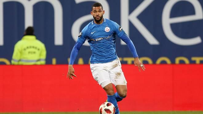 Cebio Soukou traf für Hansa Rostock beim VfL Osnabrück