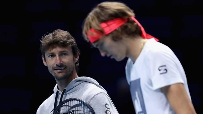 Die Zusammenarbeit zwischen Juan Carlos Ferrero (l.) und Alexander Zverev scheiterte