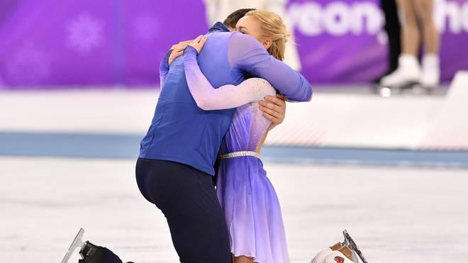 Aljona Savchenko und Bruno Massot begeisterten mit ihrem Olympia-Gold die Fans