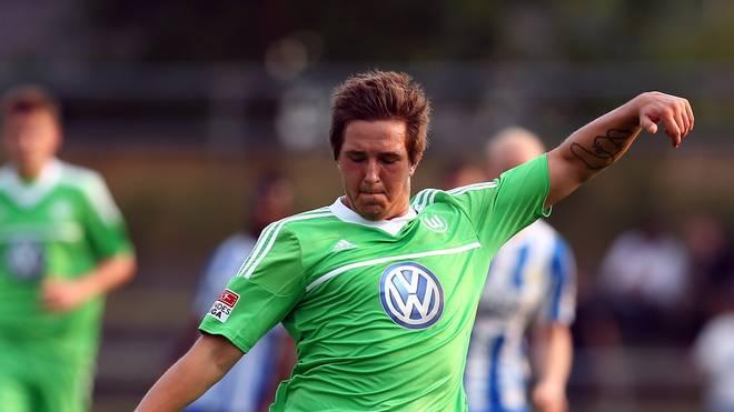 Kevin Pannewitz vom VfL Wolfsburg in einem Testspiel