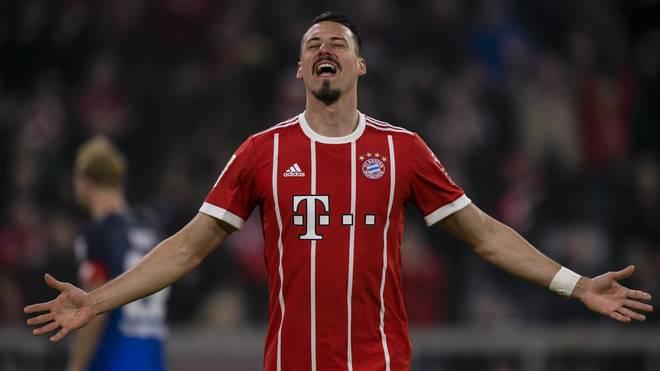 Sandro Wagner bejubelt seinen ersten Bundesliga-Treffer für den FC Bayern