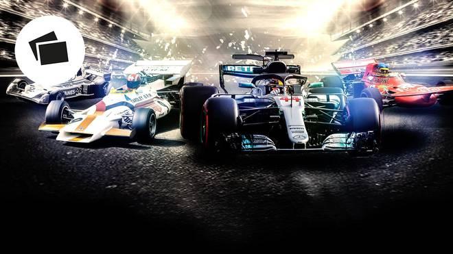 Der Look der Formel-1-Autos hat sich im Laufe der Zeit stark verändert