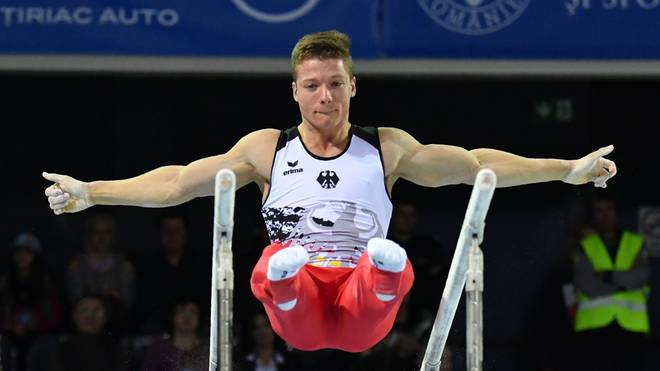 Lukas Dauser war trotz Platz acht im Barren-Finale nicht enttäuscht