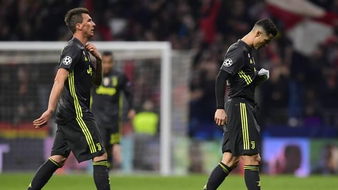 Auch Cristiano Ronaldo (r.) und Mario Mandzukic konnten die Juve-Pleite nicht verhindern