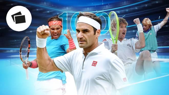 Roger Federer hat sich mit seinem 100. Sieg in Wimbledon in den Geschichtsbüchern verewigt
