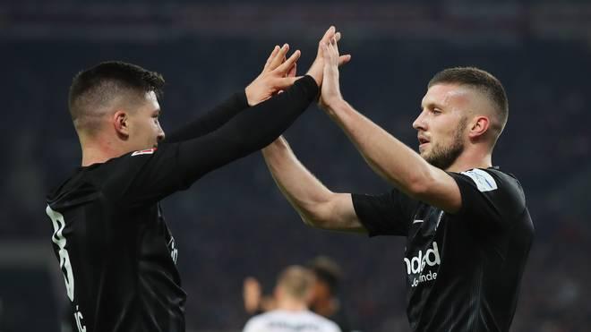 Ante Rebic (l.) und Luka Jovic gehören zu den Erfolgsgaranten von Eintracht Frankfurt