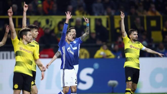 Dortmund und Schalke spielten sich Hinspiel 4:4