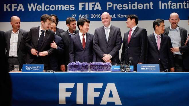 FIFA President Gianni Infantino Visits South Korea