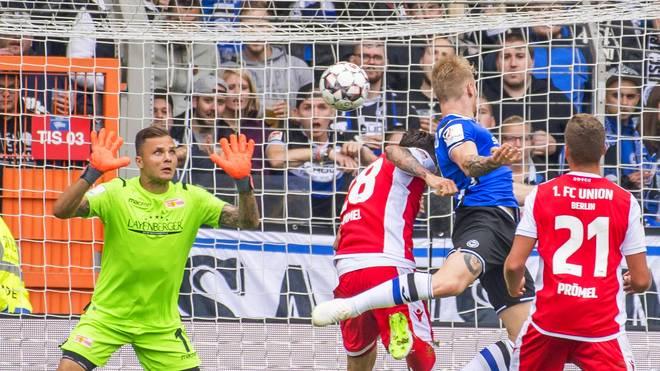 2. Bundesliga: Arminia Bielefeld - Union Berlin - Andreas Voglsammer erzielt Ausgleich