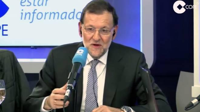 Mariano Rajoy kommentiert für Cope den Champions-League-Abend