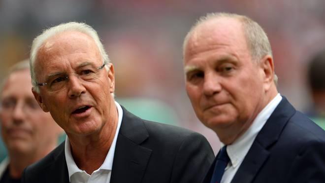 Franz Beckenbauer (l.) und Uli Hoeneß wurden 1974 zusammen Weltmeister