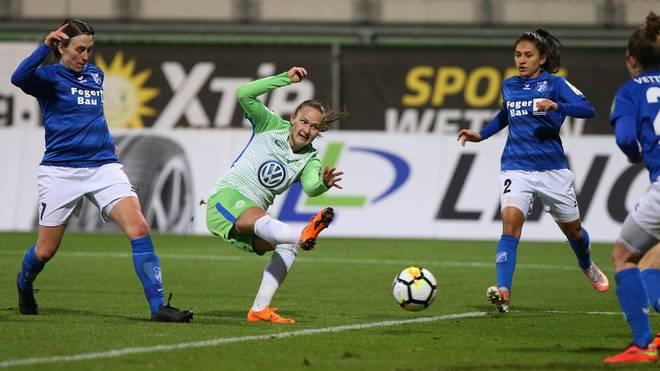 Caroline Hansen war mit zwei Toren die Matchwinnerin für den VfL Wolfsburg