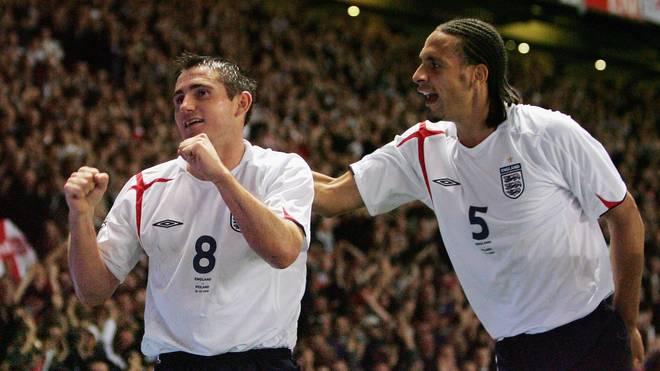 Die englischen Ex-Nationalspieler Frank Lampard (l.) und Rio Ferdinand tippen auf einen deutschen WM-Titel