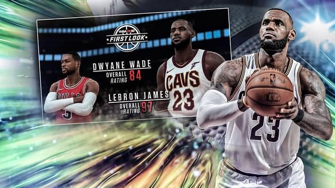 Auch LeBron James ist bei NBA 2K spielbar.