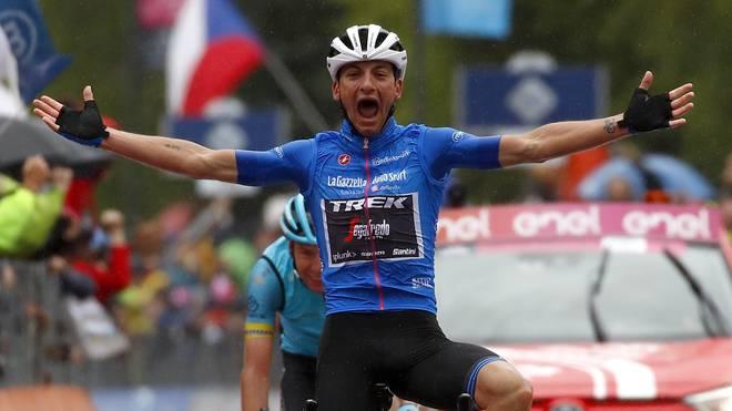 Giulio Ciccone hat die 16. Etappe des diesjährigen Giro d'Italia gewonnen