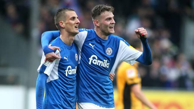 Marvin Ducksch scheiterte mit Kiel in der Relegation an Wolfsburg