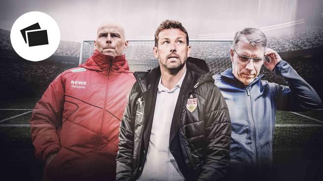 Stole Solbakken, Markus Weinzierl und Peter Knäbel (v.l.) vereint ein miserabler Start bei einem neuen Klub