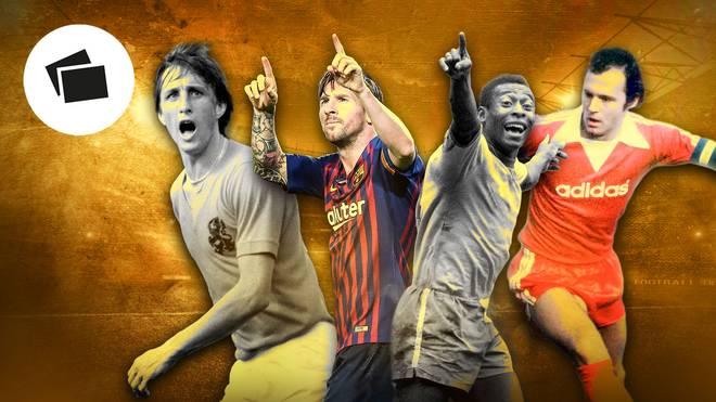 Die besten Fußballer aller Zeiten mit Pele, Messi, Cruyff und Beckenbauer