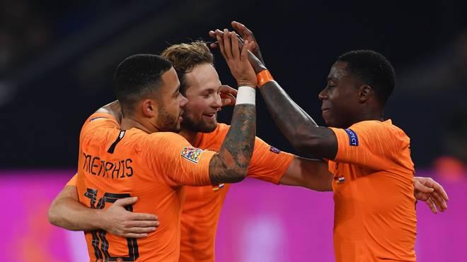 Memphis Depay traf zweimal für die Niederlande gegen Weißrussland