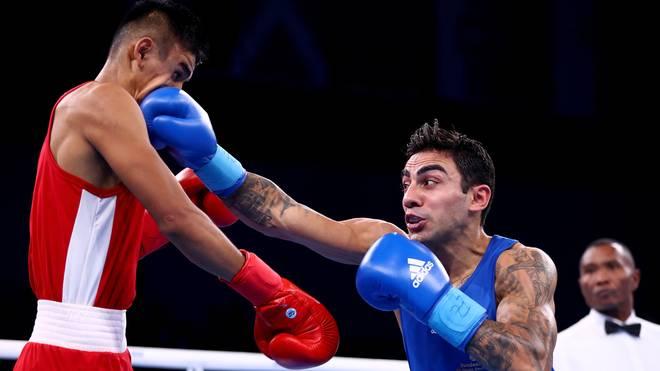 Artem Harytyunyan (r.) kämpfte im August bei den AIBA World Boxing Championships