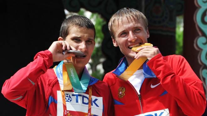 Wladimir Kanaikin (l.) und Waleri Bortschin