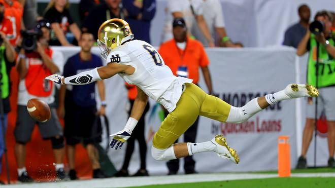 Equanimeous St. Brown spielt im College Football für Notre Dame Fighting Irish