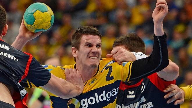 Andy Schmidt (Mitte) kritisiert den Spielplan in der Handball-Bundesliga