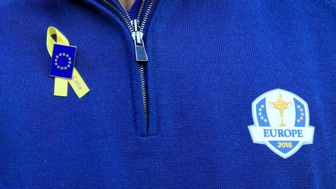 Zu Ehren von Celia Barquin tragen die europäischen Spieler eine gelbe Schleife