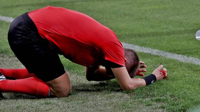 Das Spiel in Graz wurde von einem Trinkbecher-Wurf überschattet