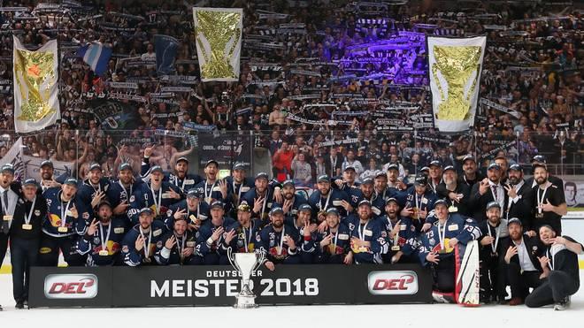 Der EHC Red Bull München feierte 2018 die Deutsche Meisterschaft