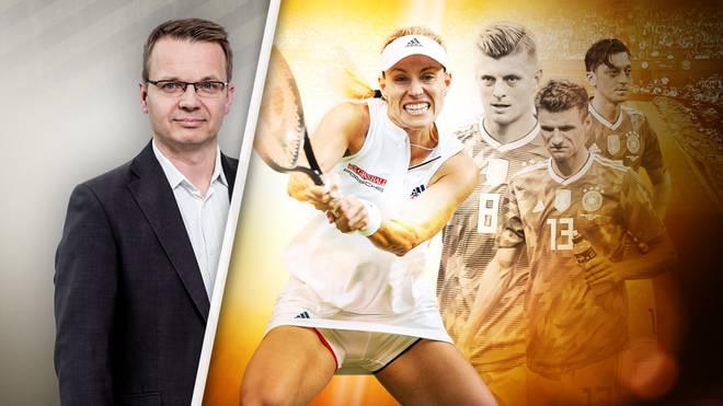SPORT1-Redakteur Martin Volkmar honoriert die Leistungen von Angelique Kerber