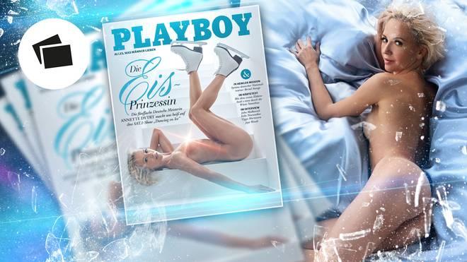 """Eiskunstlaufstar Annette Dytrt lässt im """"Playboy"""" die Hüllen fallen"""