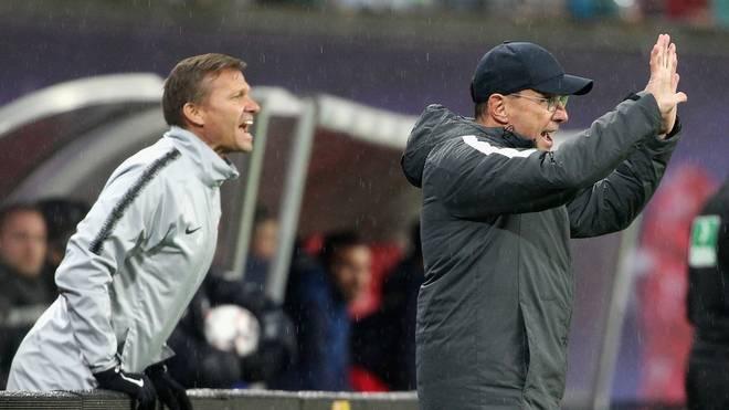 Jesse Marsch (links) wird Nachfolger von Marco Rose bei Red Bull Salzburg