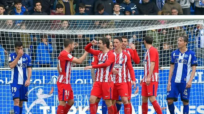Atletico setzte sich bei CD Alaves durch